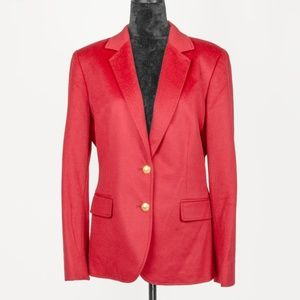 Sutton Studio Cashmere Red Blazer Jacket